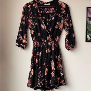 Lush Floral Wrap Dress
